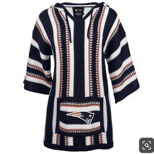 NFL New England Patriots Baja Hoodie S/M EUC